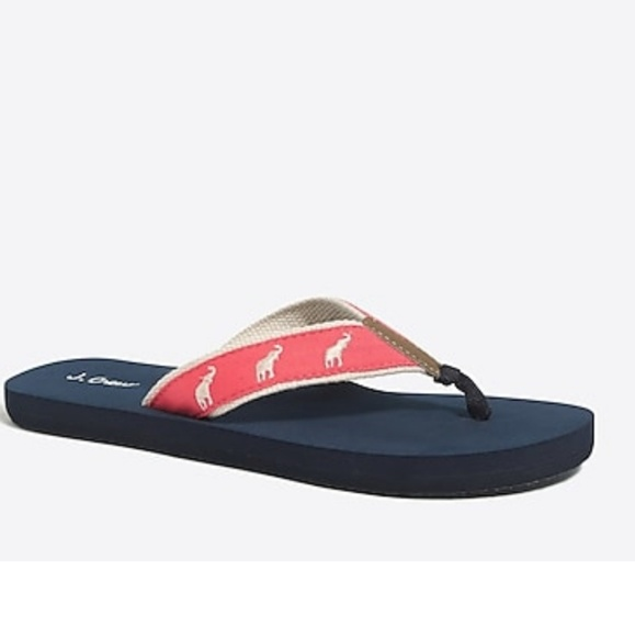 J. Crew Shoes - J.crew NWT embroidered Flip flops